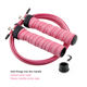 Sports Adjustable Jump Rope Nonslip Handle Skipping Rope Fitness Skip