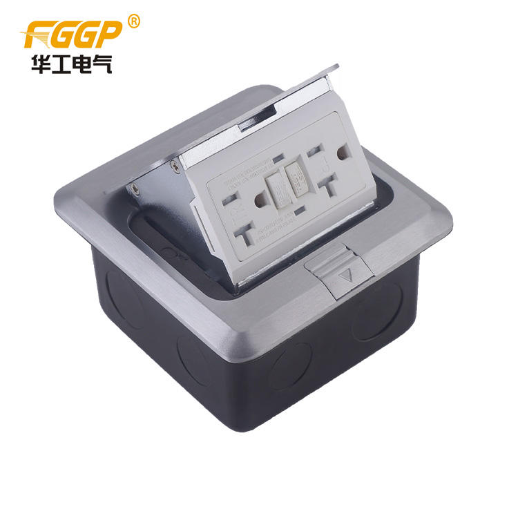 2017 Top Quality Floor Pop Up Outlet mit 110V 125V GFCI-Buchse