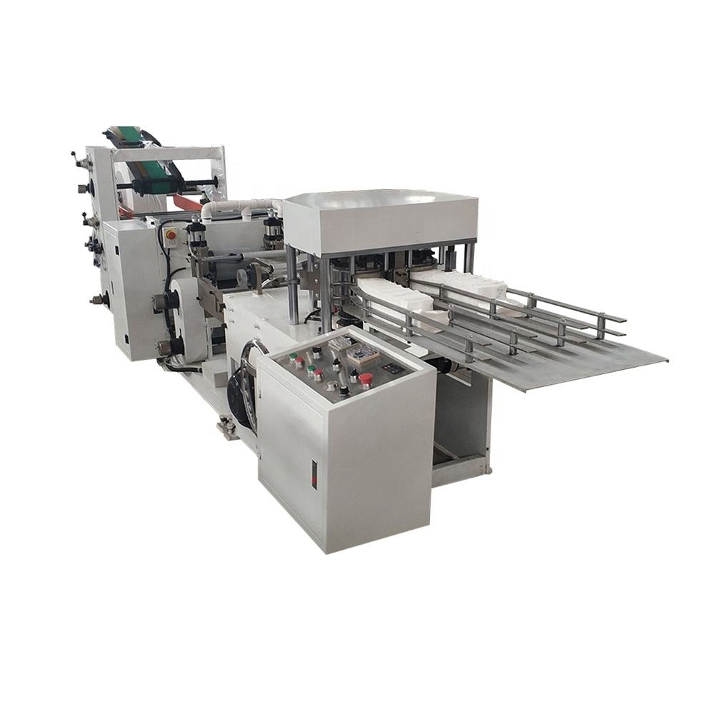 Automatic L folding paper napkin tissue machine