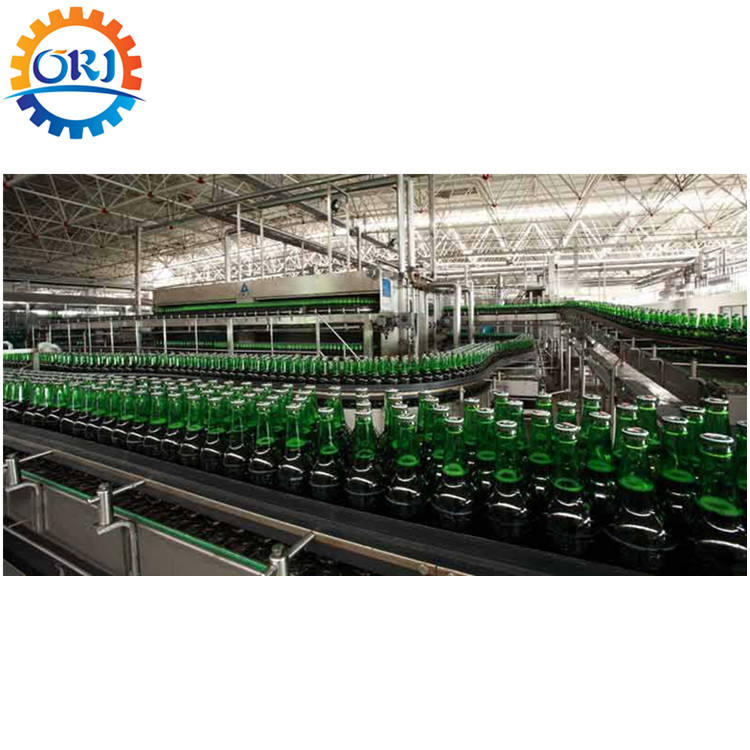 Beer bottle filing system complete production line cleaning filling capping machines