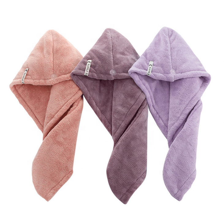 Promotional super absorbent microfiber hair wrap towels