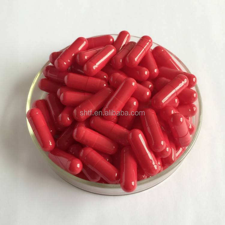 Size 0 empty capsule red color with 1000 pieces and seperate