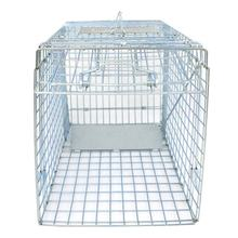 "32"" Large 1-Door Live Animal Trap Catch Release Humane Rodent Cage for Raccoons, Cats, Groundhogs, Opossums"