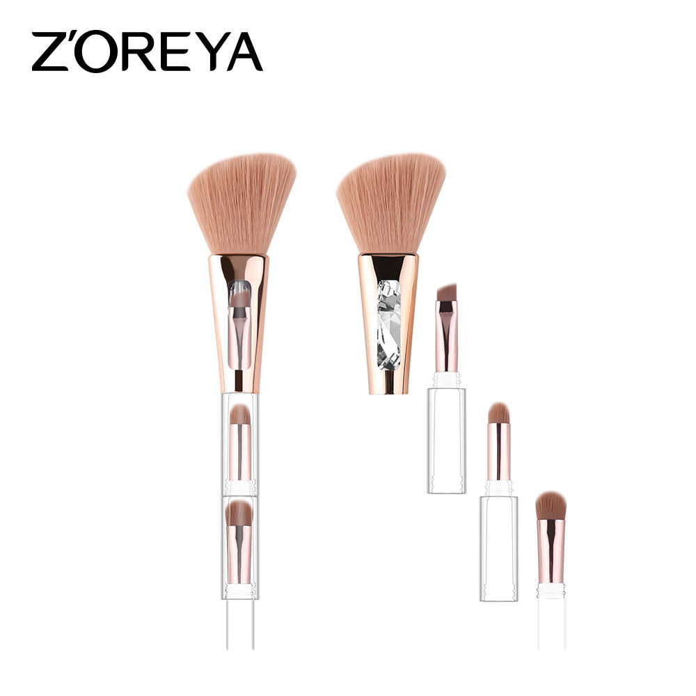 2020 4 In 1 Populer-Jual Multi-Fungsional Makeup Brush High-End Produk
