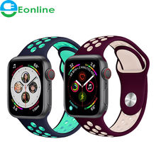 Sport Strap For Apple Watch band For i-Watch chain 42mm 44mm 38mm 40mm Silicone bracelet watchband accessories watch 5 4 3