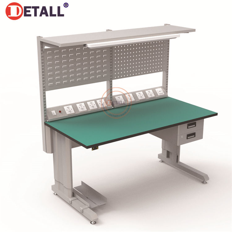 Detall ESD Meja Kerja Elektronik Assembly Line Equipment