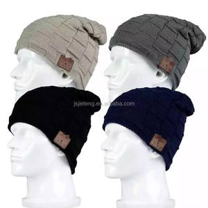 knitted promotion wireless Bluetooth beanie knitted hat