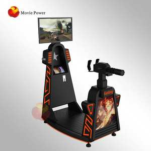 Virtual Reality Arcade Game Machine Vr Simulator Movie Power Speeltuin Indoor Multiplayer 9d Vr Gatling Schieten Voor Games Park