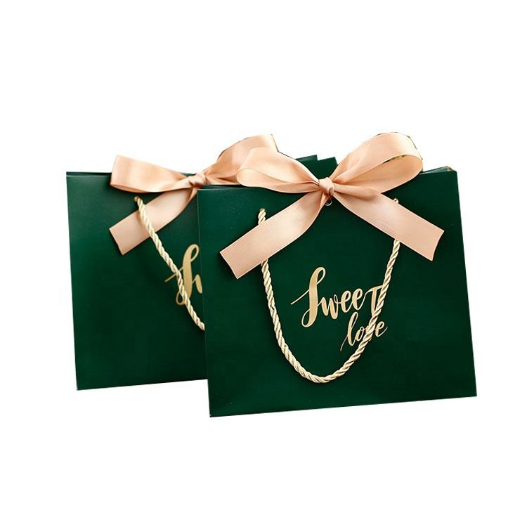 Custom Printing Gold Luxury Shopping Paper Gift Bags With Your Own Logo
