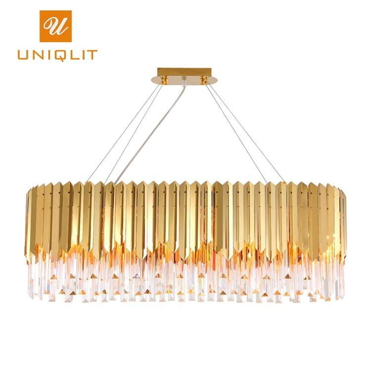 European Style Indoor Lighting Hotel Modern Large Luxury LED Brass Crystal 8 Arms Chandeliers Pendant Lights 40W