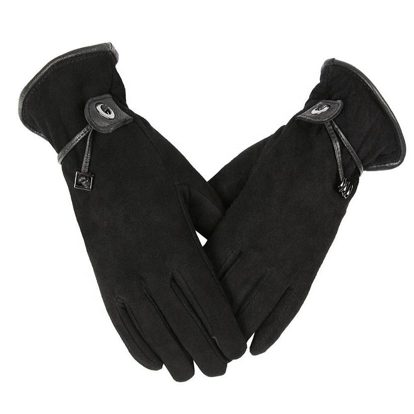 Ozero Fashion Winter Gloves Deerskin Leather Driving Touch Screen Gloves Women.