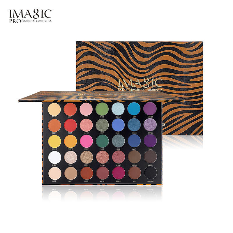 IMAGIC animal 35 color eye shadow disc pearl light matte orange color eye shadow