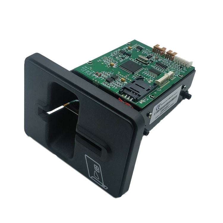 Manual Insertion contact & contactless IC chip Card Reader/Writer with lock CRT-288-K
