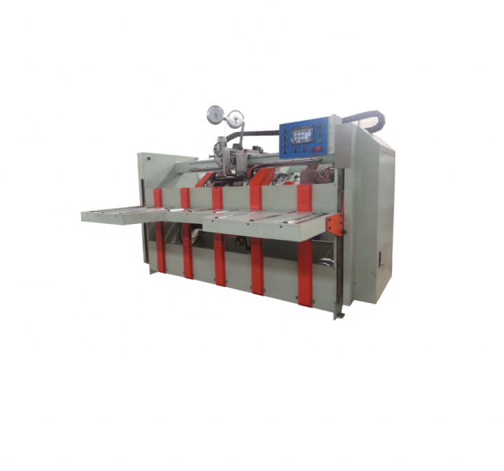 Carton making machine - Corrugated carton box stitching machine -semi-automatic stitcher