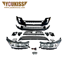 For  Toyota Highlander2015-2017 Old Style change to New Style 2018 high guality Front body kit bumper face