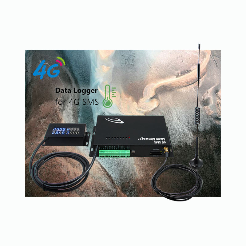 4G Multipoint Data Logger UMT8-HV-4G temperature and humidity sms textile