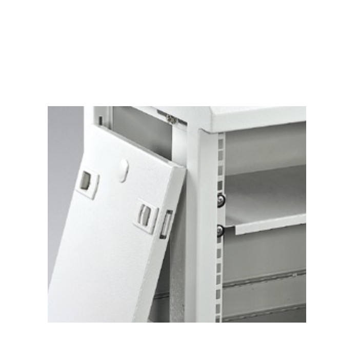 Wall Mounted Network Single Section Cabinets Server Rack with PDU fixed sliding Shelf Fan Led Vented Brush Panel