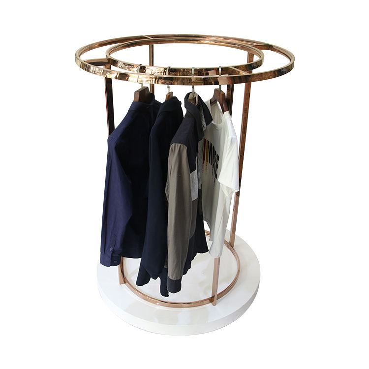 Clothing store stainless steel floor dress display stand/stands