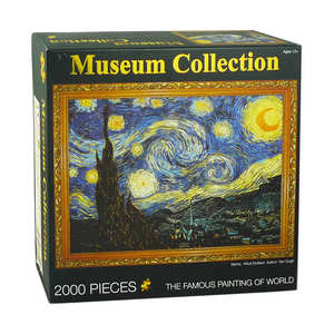 custom 2000pcs famous painting puzzle 2000 piece jigsaw puzzle board for adults gifts
