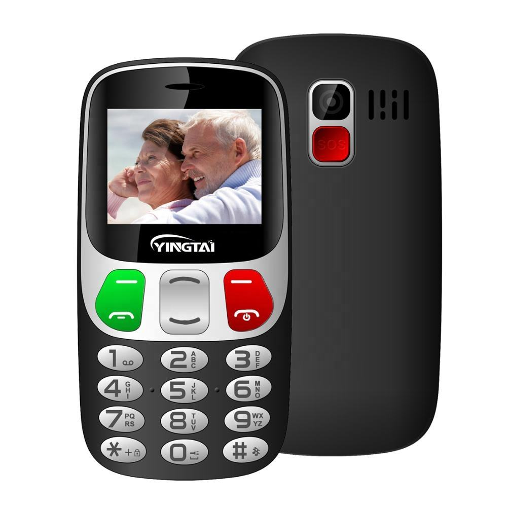 "Senior Citizen Mobile Phone Cheap 2.4"" GSM Keypad Telefon with Big Button Big Sound FM Torch SOS"