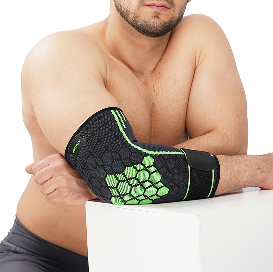 New Compression Recovery Elbow Sleeve Highest Copper Content Elbow Brace for Arthritis Golfers or Tennis Elbow