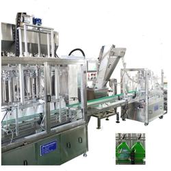 Full-auto servo Gel liquid filling capping machine Washing liquid filling machine  2 in 1 production line 6heads