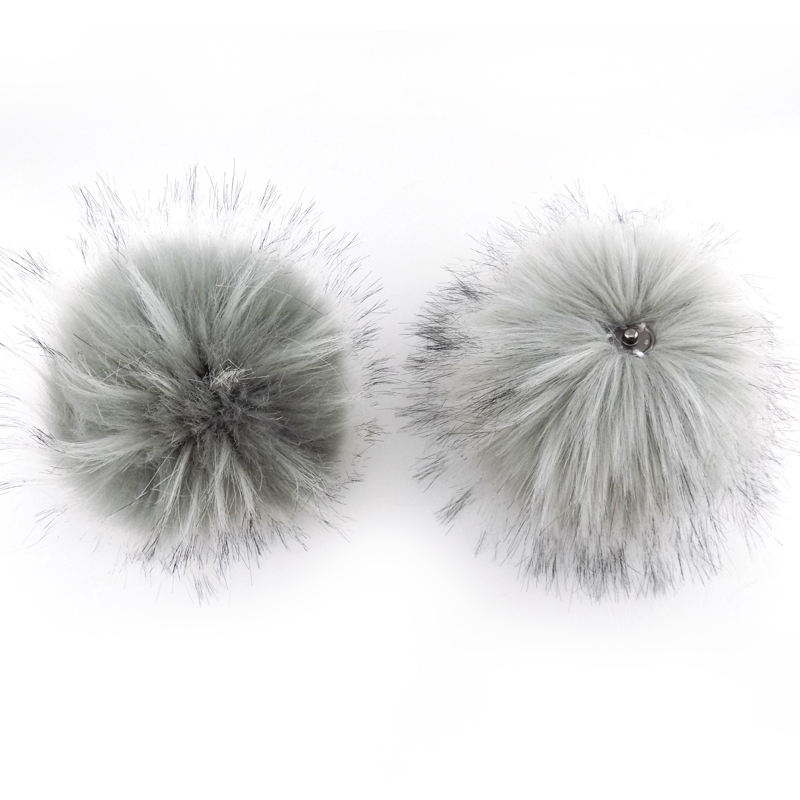 New luxury faux raccoon fur pom poms
