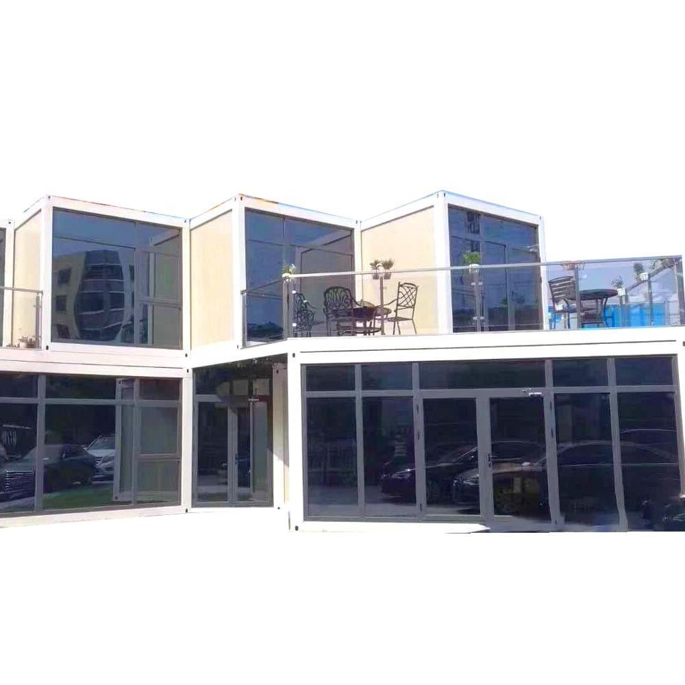 Movable contracted design prefab detachable 4 bedroom insulated container house with bathroom