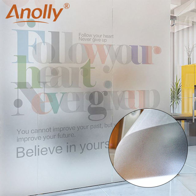 Anolly ตกแต่งความเป็นส่วนตัว self adhesive pvc frosted window film