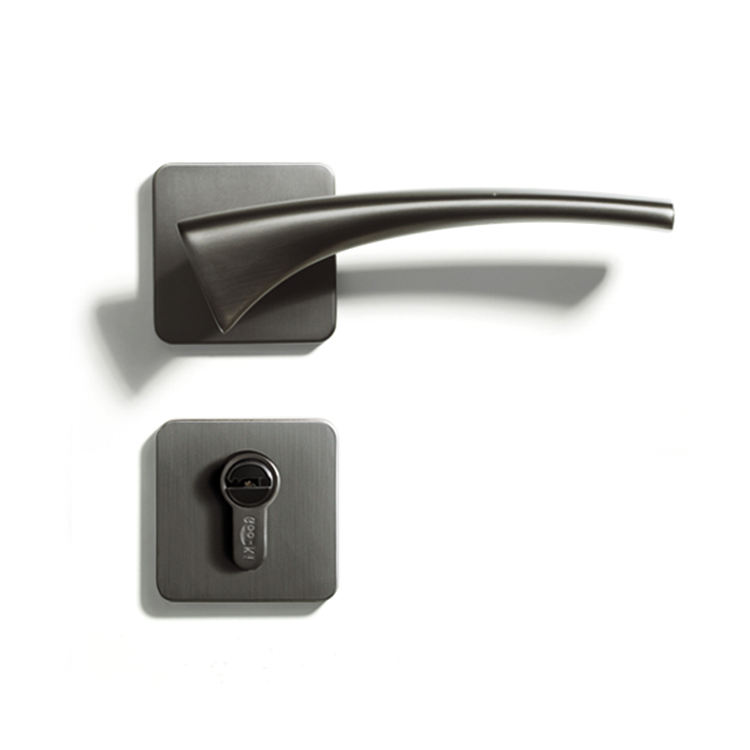 Mute Bedroom Door Lock Zinc Alloy Interior Door Handle Washroom Kitchen Toilet Lock CL-0758
