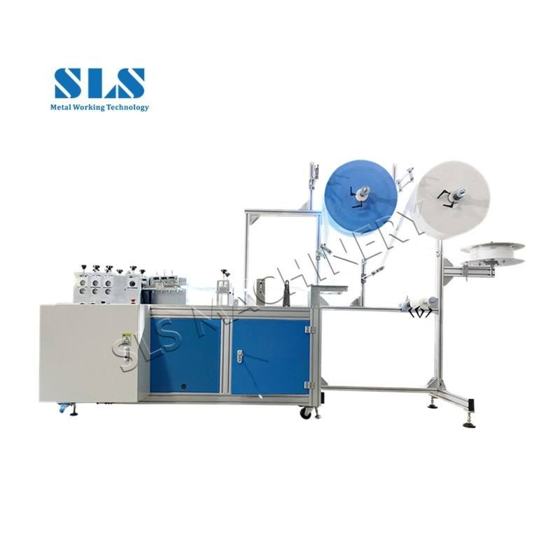 Semi Automatic Disposable Medical Facial Mask Making Machinery Equipment 3 Ply Nonwoven Surgical Face Mask Machine