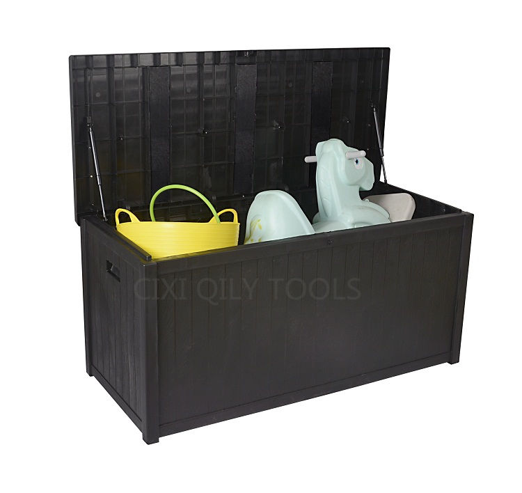 Home Cushion Furniture Wooden Texture Storage Boxes Bins Organization with Air Spring Hinges