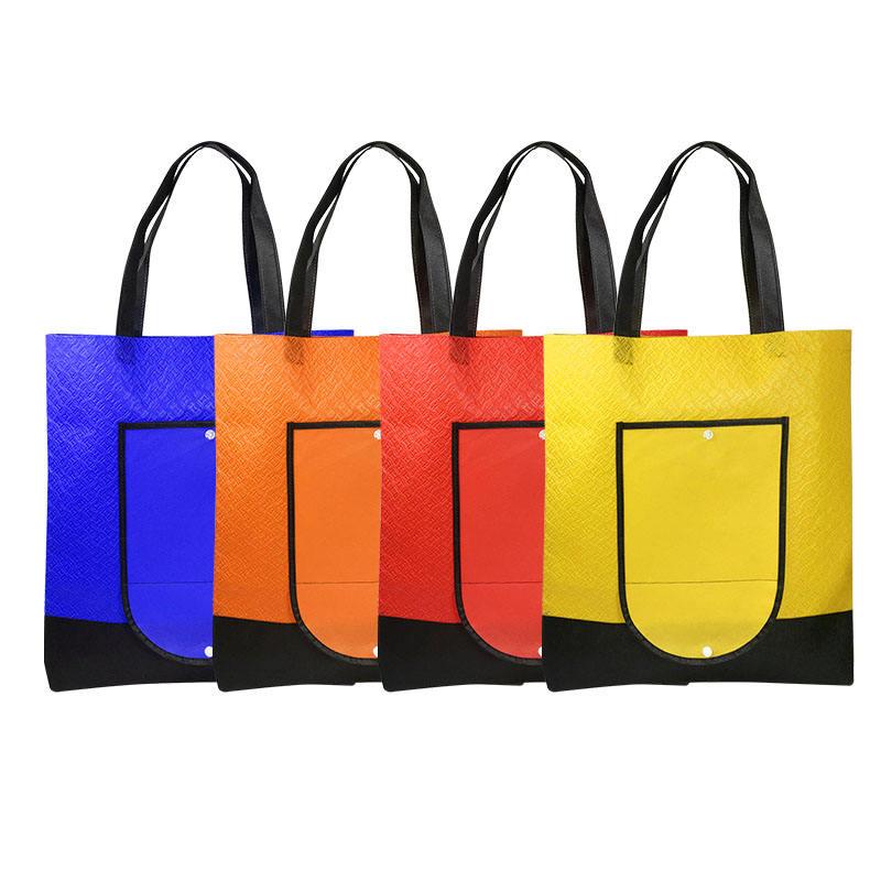 مختومة البيع المباشر المعاد تدويرها الصحافة الحرارة جيب ميكسيكا معدنية جاب مزدوجة التعامل مع حقائب غير منسوجة اقتصادية Ed ملونة