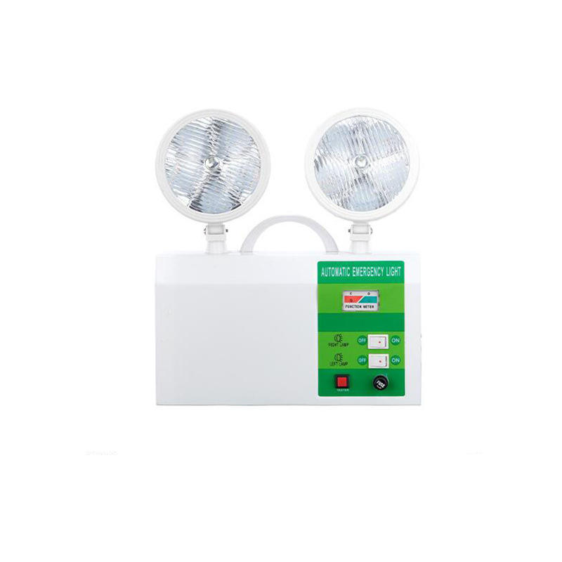 Chinese suppliers automatic wall mounted emergency led two head led exit with emergency light