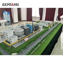 Industrial building layout scale model/ maniature industrial wharf model maker/ industrial miniature model