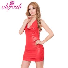 2 colors black and red women sexy short mini dress summer clothes