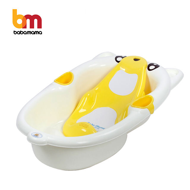 0-6years Ready to Ship Fast Dispatch Bear Shape Non-Slip Plastic Bathtubs Collapsible Baby Bath Tub For Kids