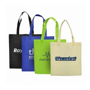 New promotional luxury custom logo reversible christmas non woven fabric bags with logos non woven laminated