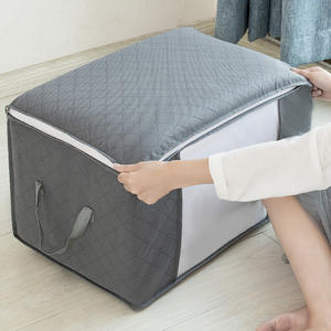 Large Capacity Foldable Clothes Sweaters Storage Bag with Clear Window