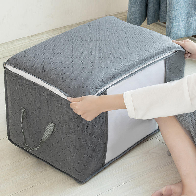 큰 Capacity Foldable 옷 스웨터 Storage Bag with Clear 창