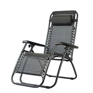 Outdoor Zero Gravity Elderly Lazy Lounge Chair Folding Teslin Resting Chair For Wholesale