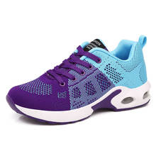 Women Knit Fashion Sports Running Shoes Breathable Lightweight Athletic Shoes