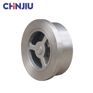 Cheap Price Flange Stainless Steel SUS304 SS316L H71 PN25 Wafer Check Valve / Wafer Lift Single Plate