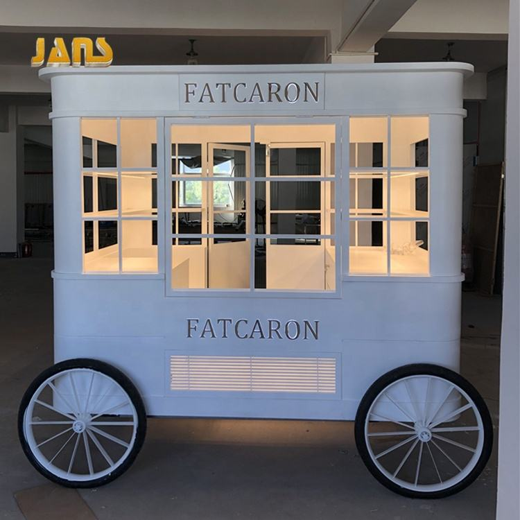 OEM and ODM services beautiful and luxury new style kiosk cake cart hot selling