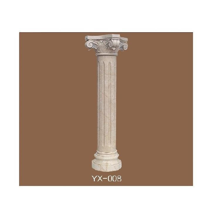 good quality natural marble temple pillar designs for home