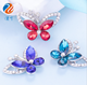 New arrival Bling Crystal Rhinestone Glass Butterfly for Dress Sewing