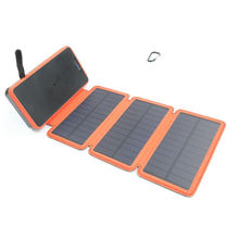 New 2020 Trend Wireless Charging Foldable Solar Panel Power Bank with Dual USB