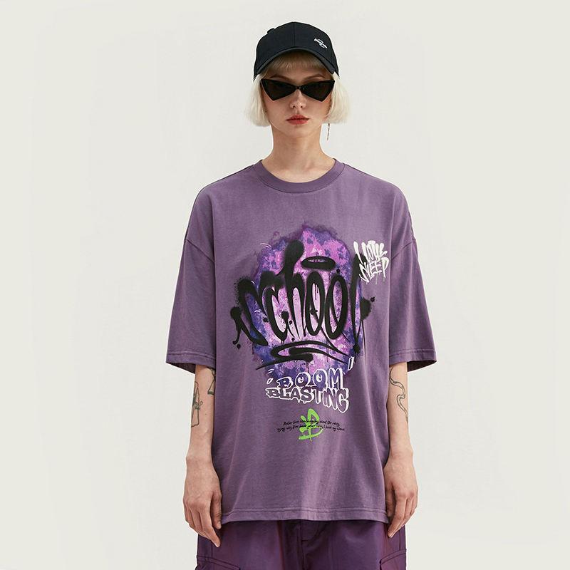 Glow in Dark Paint Splash Youth//Kids Casual T-Shirt 3D Print Short Sleeve