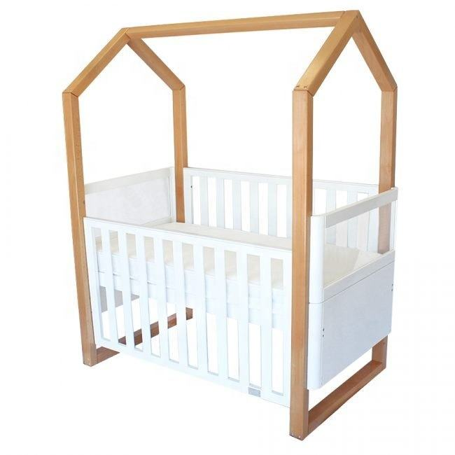 Nieuwe Collectie Pinewood Babybedje Huis Design Kinderbedje Convertible Baby <span class=keywords><strong>Bed</strong></span>