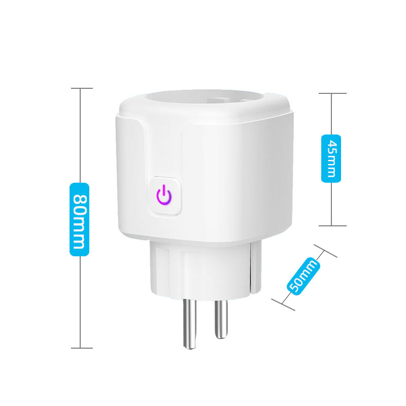 Smart Eu Stopcontact Wifi Verbinding 16a Smart Socket Wifi Plug Tuya Smart Stopcontact